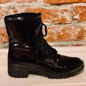 Madden Girl Combat Boots Size 8